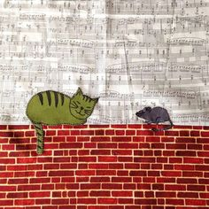 Ivana's sleeping cat and mouse #mysteryproject2015 #cottonandcolor #patchwork #patchworkquilt #quilt #patchworklovers #handicraft #handmade #creative #artesanato #quiltersofinstagram #madewithlove #quilterslife