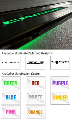 Camaro Custom Lighted Door Sills-Chevy Mall
