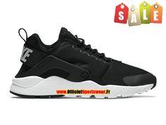 Nike Air Huarache Ultra - Chaussures Nike Sportswear Pas Cher Pour Homme Noir/Blanc 819151-001H