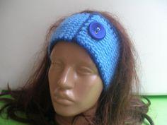 Crochet Earwarmer Headband With Button.... by zeynepmelis on Etsy, $10.00