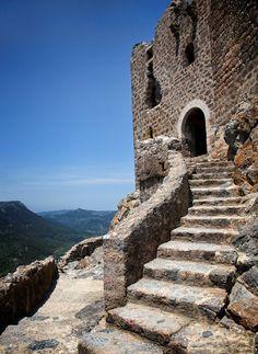 Chateau de Quéribus, Cucugnan, Aude, Languedoc-Roussillon