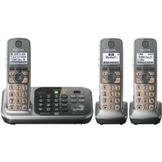 Panasonic KX-TG7743S DECT 6.0 Link-to-Cell via Bluetooth Cordless Phone with Answering System, Silver, 3 Handsets --- http://www.amazon.com/Panasonic-KX-TG7743S-Bluetooth-Cordless-Answering/dp/B0073W726I/?tag=zaheerbabarco-20