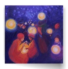 Waldorf Paintings Lantern Walk by BelovedYou on Etsy