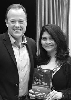 """""""So glad I got to hear ab The Orbital Perspective from @Astro_Ron & excited to make my way through the book! #crewOP"""""""