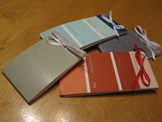 Paint chip notebooks