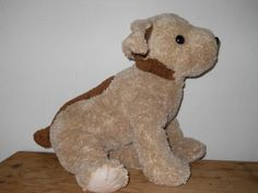 1999 Ty Classic Toffe Brown and Tan Pluffies Dog Rare