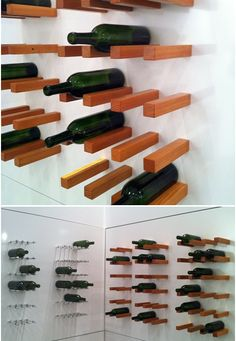 modern way to display a wine collection