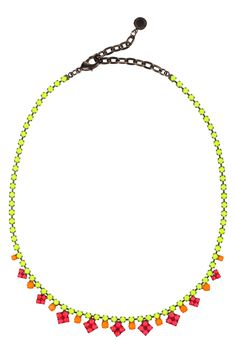 Just color an existing chain! If a designer can do that, so can we.  Tom Binns Pinata painted Swarovski crystal necklace NET-A-PORTER.COM