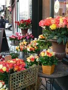 flower shop in Paris, France