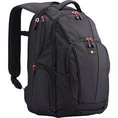 Backpack School Bag Camping Gear Travel Computer Carry Bags Black Office College #CASELOGIC