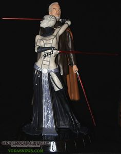 Asajj Ventress and Count Dooku Statue Images