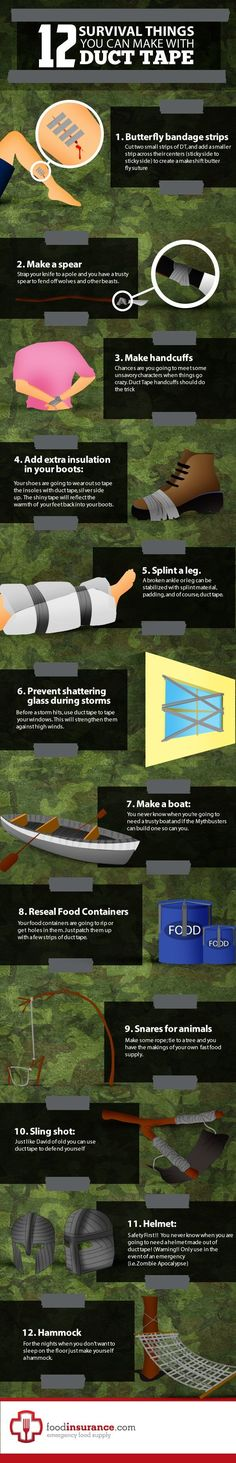 duct tape survival 12 Ways You Can Use Duct Tape For Survival