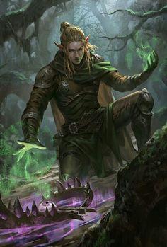 Elves Fantasy, Fantasy Art Men, Anime Fantasy, Elf Characters, Fantasy Characters, Fantasy Character Design, Character Art, Dnd Elves, Elf Druid