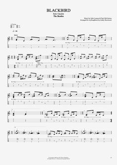 Blackbird by The Beatles - Solo Ukulele Guitar Pro Tab | mySongBook.com