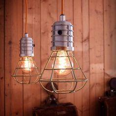 Storebror - Hanglamp Mijnlamp Metaal Groen