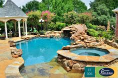 At Premier Pools & Spas, we design your freeform swimming pool to blend into the surrounding landscape. Visit us online and get inspired.