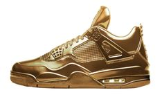 An all-gold Air Jordan 4 appeared on the Nike SNKRS app this morning possibly hinting at a future release.
