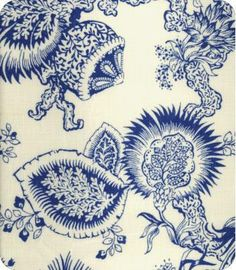 A nice spin on toile-ized floral!