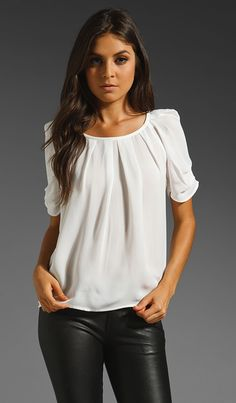 Pleated white blouse
