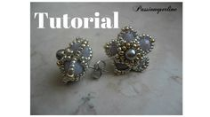 DIY Beading tutorial - Petite flower post earrings with round seed beads and crystals Seed Bead Jewelry, Seed Bead Earrings, Beaded Earrings, Beaded Jewelry, Handmade Jewelry, Beaded Bracelets, Seed Beads, Free Beading Tutorials, Beading Patterns
