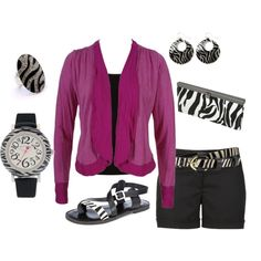 Zebra Overload, created by maggiesuedesigns on Polyvore
