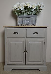 French Furniture - Shabby Chic Cupboard - Nantes Grey | £179