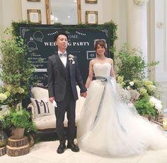 ドレスはヴィラウォンのバレリーナです♡チュールに埋もれたい!というご新婦さまの要望にあったデザインです。 サッシュベルトはグリーンにし、ご新郎さまの小物と色あわせしました。
