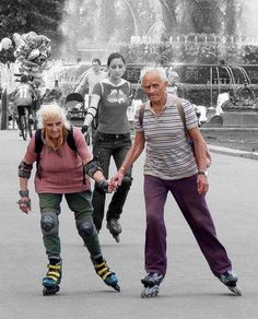 Rollerblading seniors. Good on them.