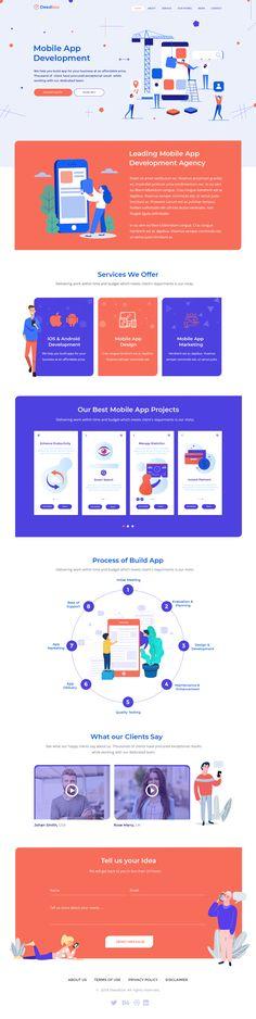 Deedbox – Multipurpose Portfolio PSD Template - Whatever You Want Landing Page Inspiration, Web Design Inspiration, Design Ideas, Free Website Templates, Psd Templates, Advert Design, App Landing Page, Digital Web, App Design