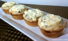 Weight Watchers Friendly Recipes: Mini Spinach Dip Bread Bowls Camping - dinner with grilled steaks? Father's Day?
