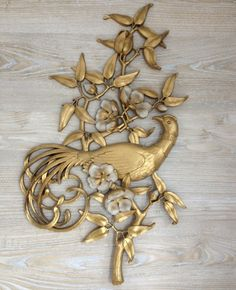 Vintage Gold Syroco Wall Hanging Retro Home by TheVintageResource ...