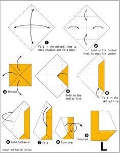 Alphabet L - Easy Origami For Kids