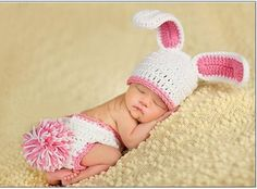 Kids Clothing Hats+Shorts Newborn Crochet Outfits Cute Newborn Rabbit photography Props Children Accessories Unisex US $14.18