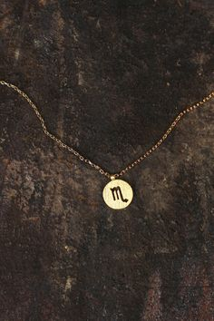 Hey girl, what's your sign? Our charm necklaces feature each astrological sign on a dainty golden metal piece, cutout to perfection. · Scorpio: October 23rd-November 22nd · Gold Finish Finish · Small