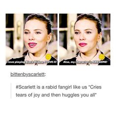 Scarlett loves playing Black Widow