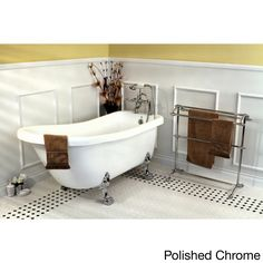 $839 - Vintage Collection 67-inch Acrylic Slipper Clawfoot Tub - Overstock™ Shopping - Big Discounts on Claw Foot Tubs