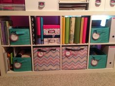 Thirty one organizing bins fit in IKEA's expedit shelving units...Click the pin to order the bins!