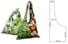 Ceci EuQfiz: Easy fabric bag with mold Purse Patterns, Sewing Patterns, Easy Patterns, Paper Patterns, Sewing Crafts, Sewing Projects, Sewing Tips, Diy Crafts, Diy Sac