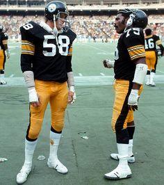 Pro Football Hall Of Famer's Mean Joe and Greene-Jack lambert