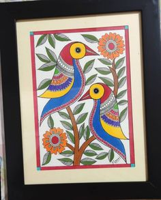 Madhubani Paintings Peacock, Kalamkari Painting, Madhubani Art, Phad Painting, Folk Art Flowers, African Art Paintings, Indian Folk Art, Art Drawings For Kids, Buddha Art
