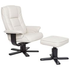2 Piece Tallulah Arm Chair & Ottoman -- This and one more definitely belong in my living room -  maybe in black or tan?
