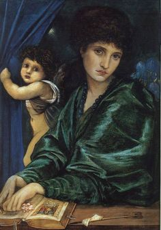 Edward Coley Burne-Jones - Portrait of Maria Zambaco Fine Art Prints, Framed Prints, Canvas Prints, Pre Raphaelite Brotherhood, Edward Burne Jones, Great Works Of Art, Cupid, Poster Size Prints, Photo Greeting Cards