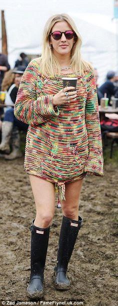Dare to bare:Ellie slim legs looked sensational in her attire...