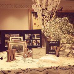 Instagram media yucccccaa - ウェルカムスペース 帝国ホテル編 前撮り写真などを飾りました。 かすみ草のほわほわな感じがお気に入りです♡