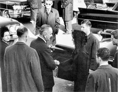 11/24/63: President Johnson extends his condolences to Jacqueline Kennedy, following the Capitol Rotunda ceremonies.