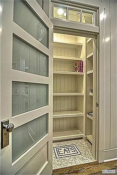 Glass door to pantry