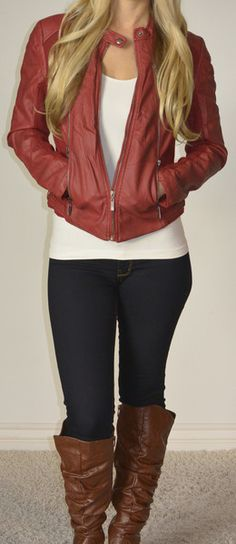 Emma Swan. (If I was blonde and four inches taller I would so rock this.)