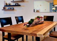 custom slab dining tables - Google Search