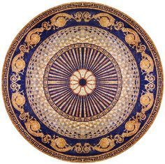 48 Inch Diameter Marble Mosaic Medallion Tiles Wall Floor Bath Home Decor with Versace Borders by MEC Canada Inc, http://www.amazon.com/dp/B009D489ZW/ref=cm_sw_r_pi_dp_kBcarb1FV7CAD