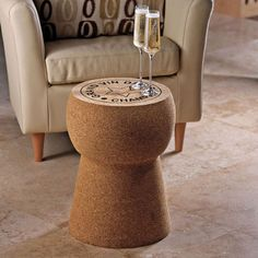 Drink Wine While Sitting On This Giant Champagne Cork Stool